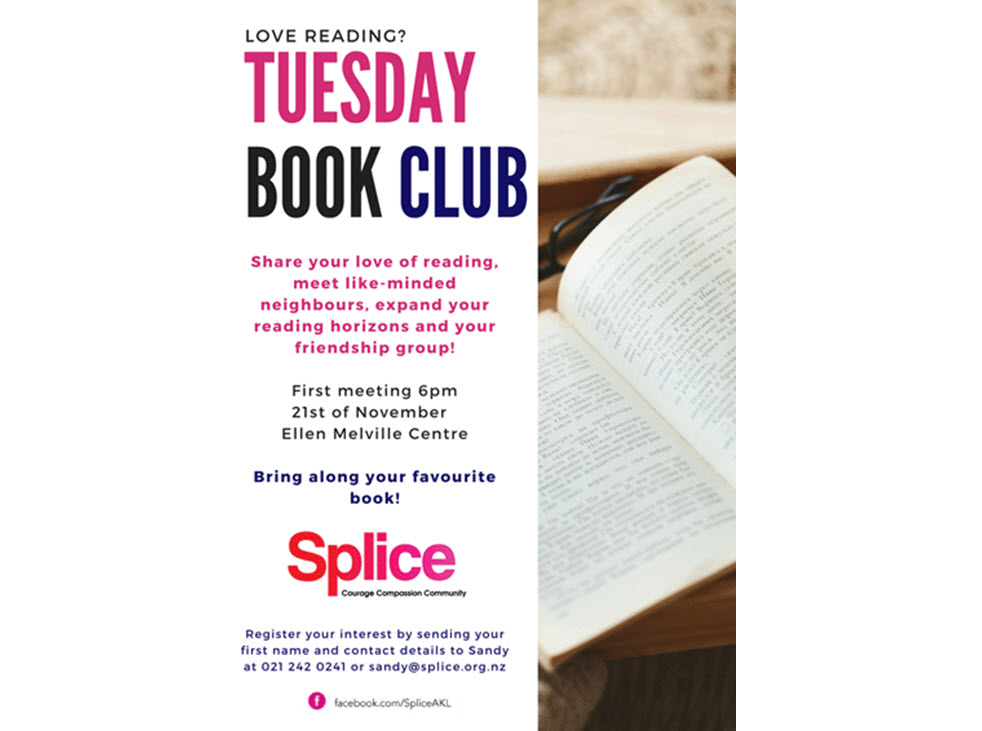 Tuesday Book Club at Ellen Melville Centre Tuesdays at 6:00 pm