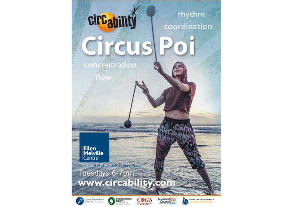 Circus Poi with Circability at Ellen Melville Centre Tuesdays 6 - 7 pm