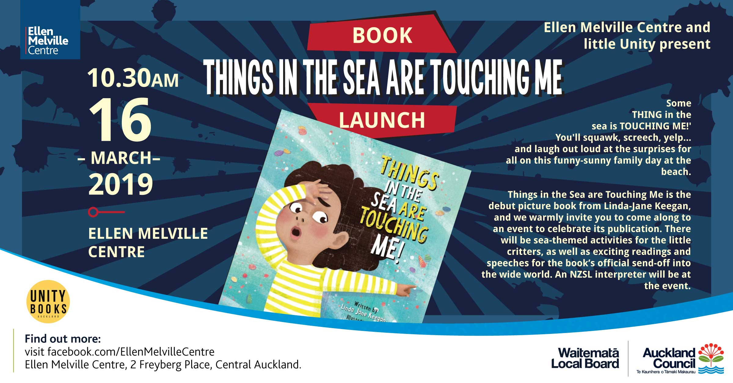 Things from the sea are touching me book launch