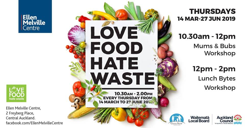 Love Food Hate Waste Community Lunch, Thursdays from 10.30 for parents and midday for everyone